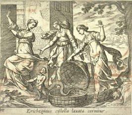 Erichtonius cistella laxata cernitur (Ericthonius Released From his Basket), pl. 14 from the series Ovid's Metamorphoses