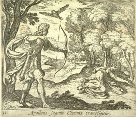 Apoliinis sagitta Coronis transfigitur (Apollo Killing Coronis), pl. 16 from the series Ovid's Metamorphoses