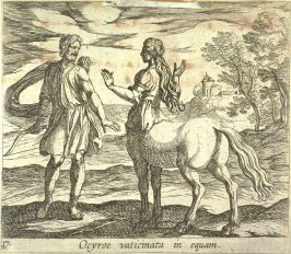 Ocyroe vaticinata in equam (Ocyrhoe Changed into a Horse), pl. 17 from the series Ovid's Metamorphoses