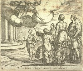 Mercurius Herses amore accenditur (Mercury Falling in Love with Herse), pl. 18 from the series Ovid's Metamorphoses