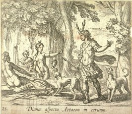 Dianoe aspectu Actaeon in ceruum (Acteon Changed Into A Stag), pl. 25 from the series Ovid's Metamorphoses