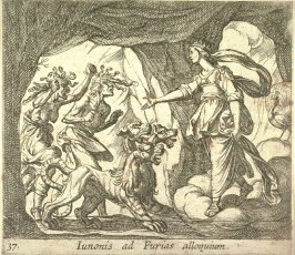 Iunonis ad Furias alloquium (Juno and the Furies at the Gate of Hell), pl. 37 from the series Ovid's Metamorphoses
