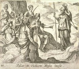 Pallas in Helicone Musas invisit (Athena with the Muses), pl. 44 from the series Ovid's Metamorphoses