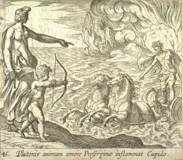Plutonis animum amore Proserpinae inflammat Cupido (Cupid Shooting His Arrow at Pluto), pl. 46 from the series Ovid's Metamorphoses