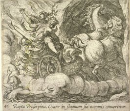 Rapta Proserpina Cyane in stagnum sui nominis convertitur (Pluto Carrying Proserpina Past the Nymph Cyane), pl. 47 from the series Ovid's Metamorphoses