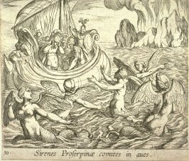 Sirenes Proserpinae comites in aves (The Sirens), pl. 50 from the series Ovid's Metamorphoses