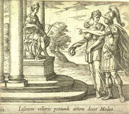 Iasonem velleris potiundi artem docet Medea (Jason Promises His Hand to Medea), pl. 61 from the series Ovid's Metamorphoses