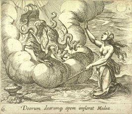 Deorum dearumque opem implorat Medea (Medea Conjuring Her Chariot), pl. 63 from the series Ovid's Metamorphoses