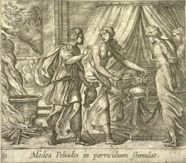 Medea Peliades in parricidium stimulat (Medea Urging the Daughters of King Pelias to Murder their Father), pl. 65 from the series Ovid's Metamorphoses