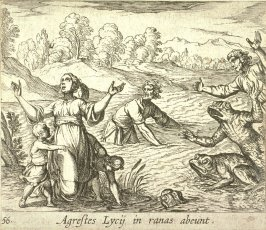 Agrestes Lycij in ranas abeunt ( Latona Turning the Lycian Peasants into Frogs), pl. 56 from the series Ovid's Metamorphoses