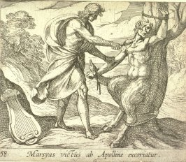 Marsyas victus ab Apolline excoriatur (Apollo Killing Marsyas), pl. 58 from the series Ovid's Metamorphoses