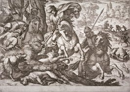 Bear Hunt, pl. 9 from the series Hunting Scenes VI