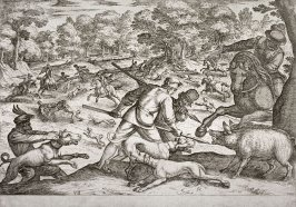 Boar Hunt, pl. 7 from the series Hunting Scenes VI
