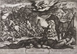The Exterminating Angel Vanquishing the Army of Sennacherib, pl. 21 from a series of Old Testament scenes