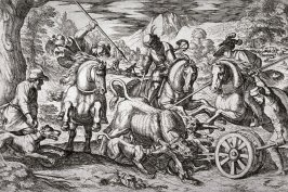 A Bull Hunt, from the series Hunting Scenes VII