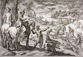 Deer and Wolf Hunt, from the series Hunting Scenes VII