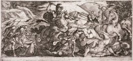 Cavalry Attack with Soldiers Fleeing, from the series Battle Scenes I