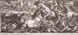 Battle Scene With Two Horses Attacking Each Other, from the series Battle Scenes I