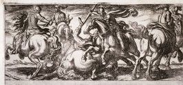 Six Cavalry Men in Combat, from the series Battle Scenes I