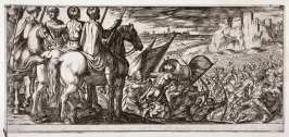 Battle Scene With Cavalry Observing From a Hill, from the series Battle Scenes I