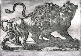 Plate from the series Battling Animals