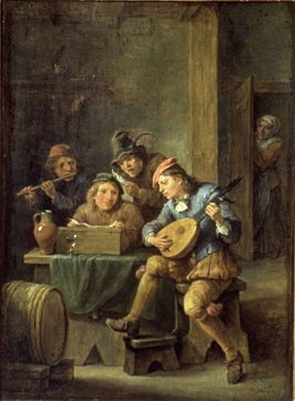 The Music Party or Flemish Interior