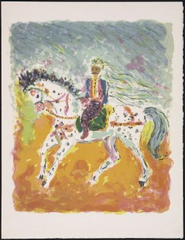 """Cavalier tunisien"" by Kostia Terechkovitch, pg. 81, in the book Souvenirs et portraits d'artistes (Reminiscences and Portraits of Artists) by Fernand Mourlot (Paris: Alain c. Mazo, 1972 and in New York: Léon Amiel, 1972)."