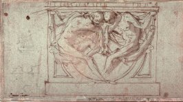 Two Figures, after a drawing by Pietro Testa