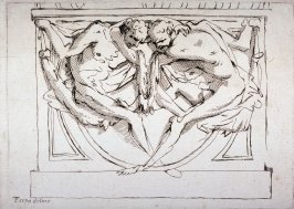 Recto:Two Male Figures 