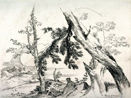 Nymphs and Satyrs in a Wooded Landscape