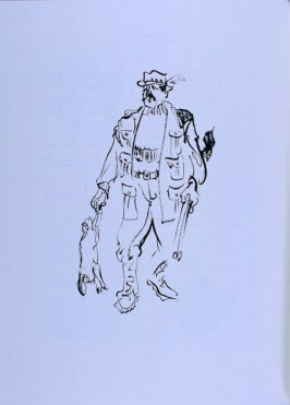 Hunter holding gun and dead hare, page 333 in the book The Physiology of Taste (San Francisco: The Arion Press, 1994)