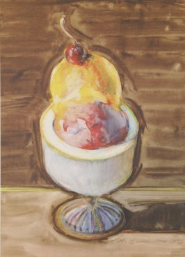 Ice Cream sundae, plate opposite page 178 in the book The Physiology of Taste (San Francisco: The Arion Press, 1994)