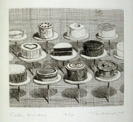 Cake Window, pl. 13, from the book, Delights