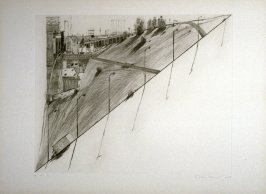 Diagonal Ridge, pl. 8, from the portfolio, Recent Etchings I