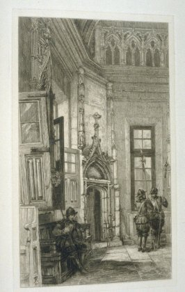The Salle des Procureurs, Rouen, plate 34 in the book, The Etcher (London: Sampson Low…, 1880), vol. 2 [bound in same volume as vol. 1, 1879]