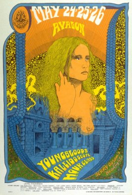 """Lady with Spaghetti Hair,"" Youngbloods, Kaleidoscope, Hour Glass, May 24 - 26, Avalon Ballroom"