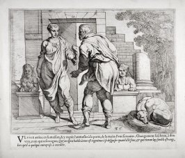 Ulysses Receives an Alms from One of his Servants, no. 35 from The Labors of Ulysses