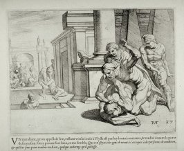 Struggle Between Ulysses and the Beggar Irus, no. 37 from The Labors of Ulysses