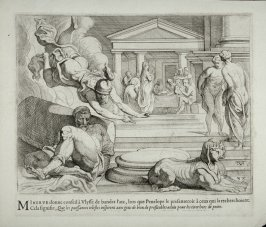 Minerva Urging Ulysses to Ask for the Bow, no. 38 from The Labors of Ulysses