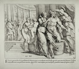 Minerva Beautifying Ulysses in a Bath House, no. 45 from The Labors of Ulysses