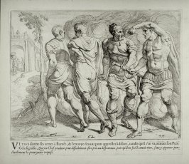 Ulysses Giving his Weapons to Eumaeus, no. 52 from The Labors of Ulysses