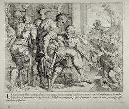 Ithacan Rebels Attacking the House of Laertes, no. 56 from The Labors of Ulysses
