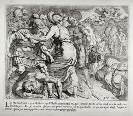 Reconciliation of Ulysses and the Ithacan Rebels after the Intervention of Minerva, no. 57 from The Labors of Ulysses