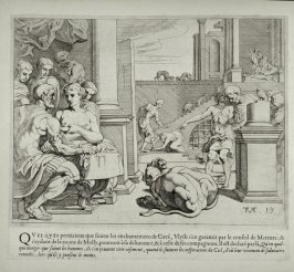 Ulysses and his Companions in the Palace of Circe, no. 19 from The Labors of Ulysses