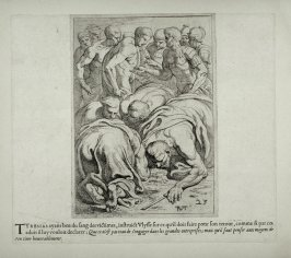 Tiresias Drinking the Blood of the Victims, no. 23 from The Labors of Ulysses