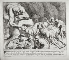 Ulysses and his Companions Flee from Polyphemus's Cave, no. 11 from The Labors of Ulysses