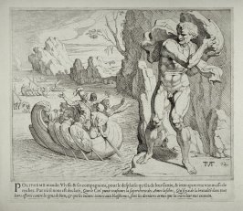Polyphemus Hurls a Rock at Ulysses's Departing Ship, no. 12 from The Labors of Ulysses