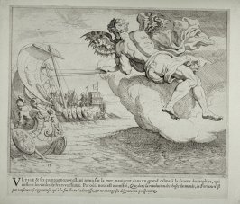 Zephyrus Pushing the Ship of Ulysses, no. 14 from The Labors of Ulysses