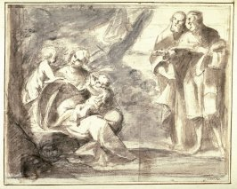 Madonna and Child with Infant St. John and Two Prophets