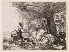 Joseph Adoring the Child, from the series Idée Pittoresche sopra la fugga in Egitto...(Picturesque Ideas on the Flight into Egypt...)